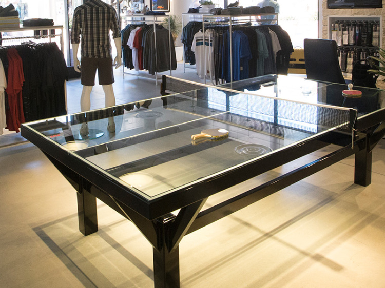 Exceptional Glass Top Ping Pong Table By TravisMathew