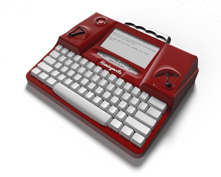 The Hemingwrite A Retro Word Processor Shaped Like A Typewriter - Google docs word processor