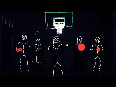 The Members Of Dude Perfect Wear Glow In The Dark Stick