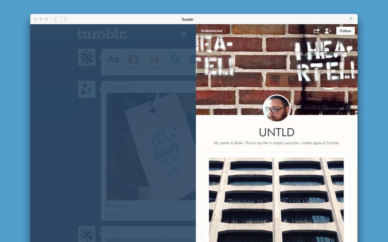 Tumblr Mac App