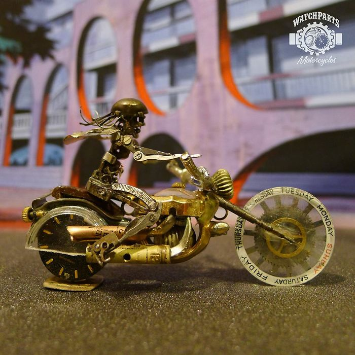 Vintage Watch Part Motorcycles by Dan Tanenbaum