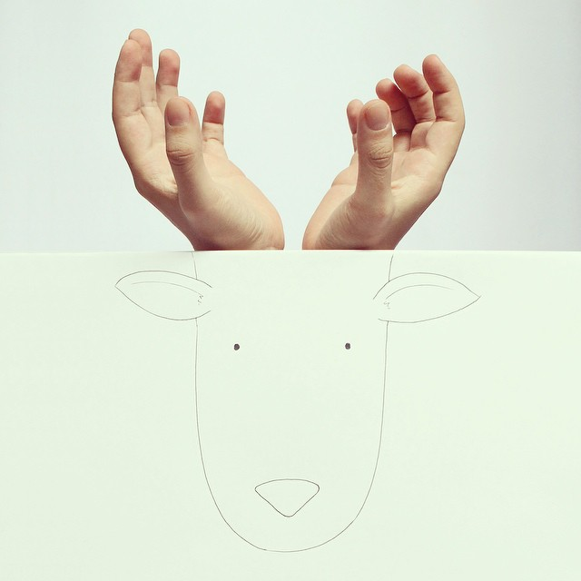 Animal Drawings With Hands