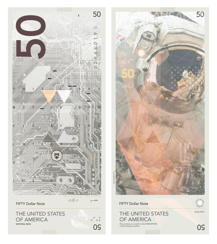 Dollar Bill Redesign by Travis Purrington