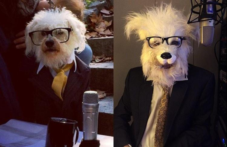 Radio Host Ira Glass Dressed As a Dog Dressed As Ira Glass