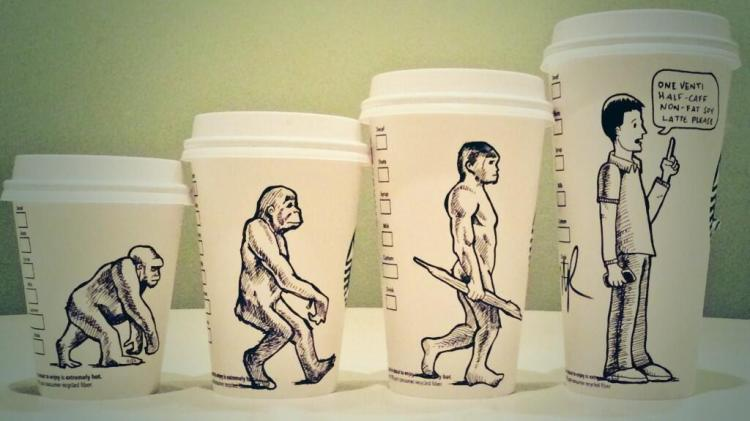 Twisted Coffee Cup Cartoons by Josh Hara