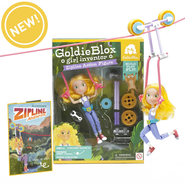 Goldie on Zipline