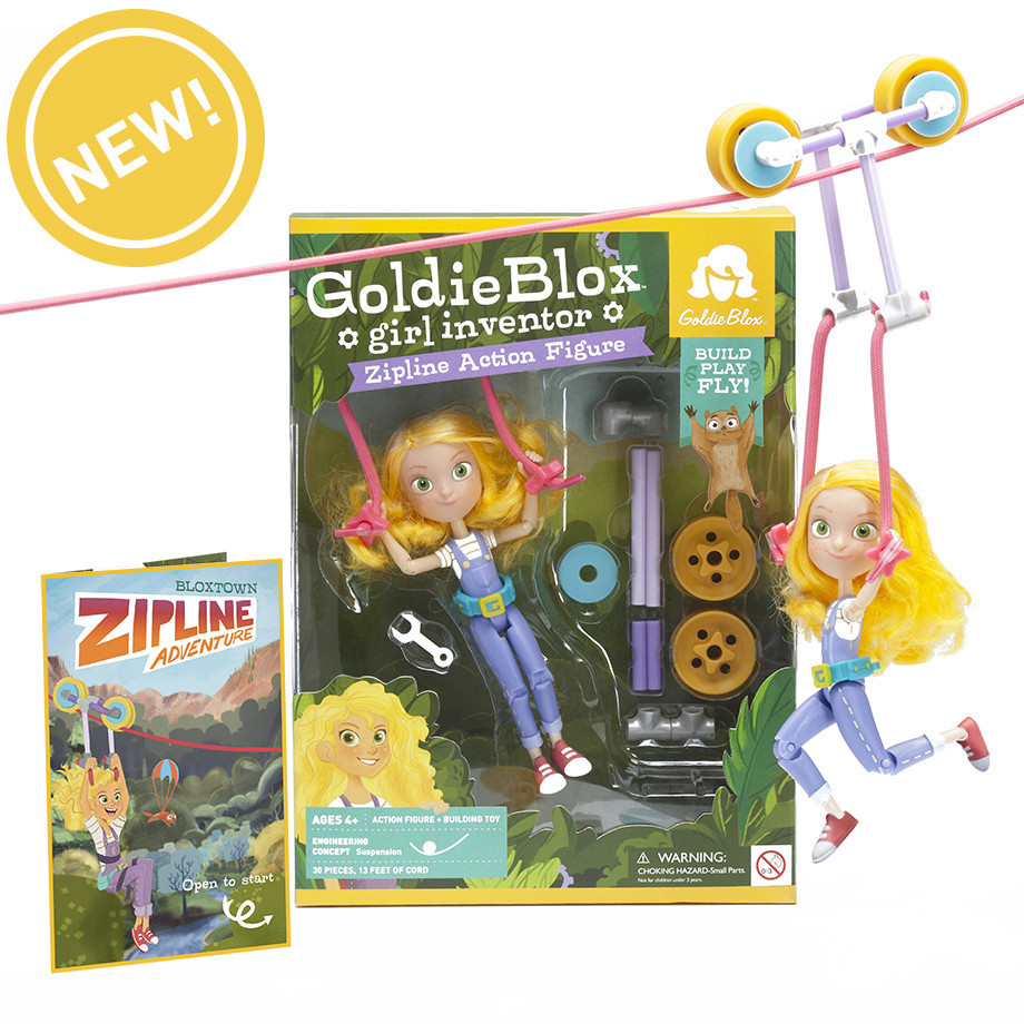 GoldieBlox Premieres Their Brand New Action Figure for Girls in 'Big Brother'-Style Ad Campaign