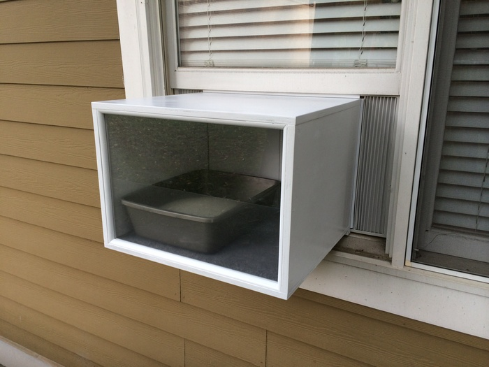 Katio A Litter Box For Cats That Fits In A Window Like An