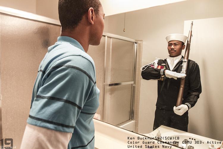 Ken Buckner, SW2(SCW) CB Color Guard US Navy