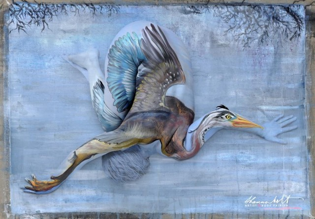 Florida Wildlife Body Paintings by Shannon Holt