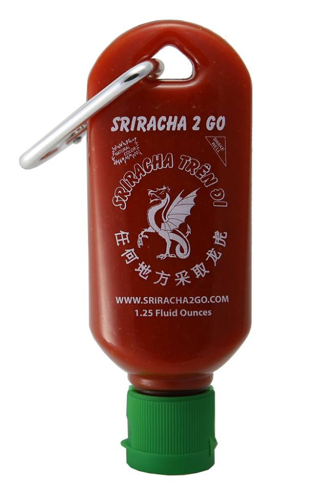 Sriracha2Go, A tiny refillable bottle of Sriracha that clips onto a ...