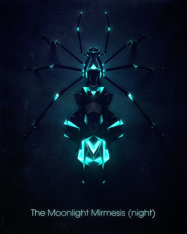 Geometric Insects by Chaotic Atmospheres