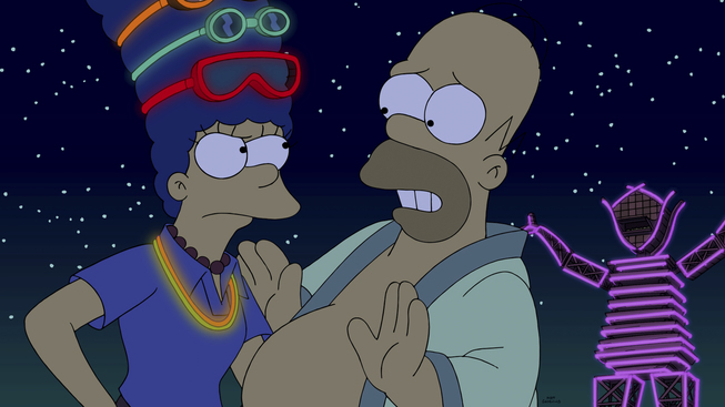 The Simpsons Go To Burning Man