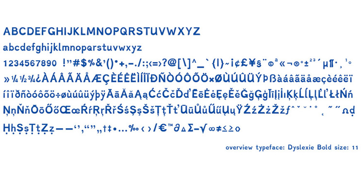 Dyslexie Font for Dyslexics