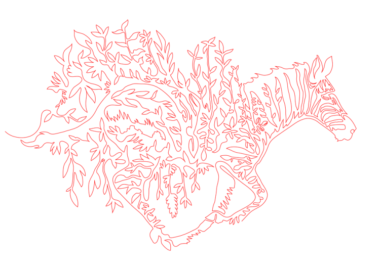 Continuous Line Illustrations and Animations by Kazuhiko Okushita