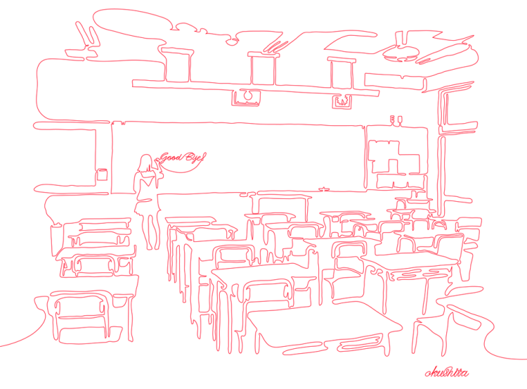 Continuous Line Illustrations and Animations by Kazuhiko Okushita