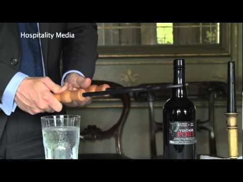 Master Sommelier Demonstrates How to Open a Bottle of Vintage Port With a Feather