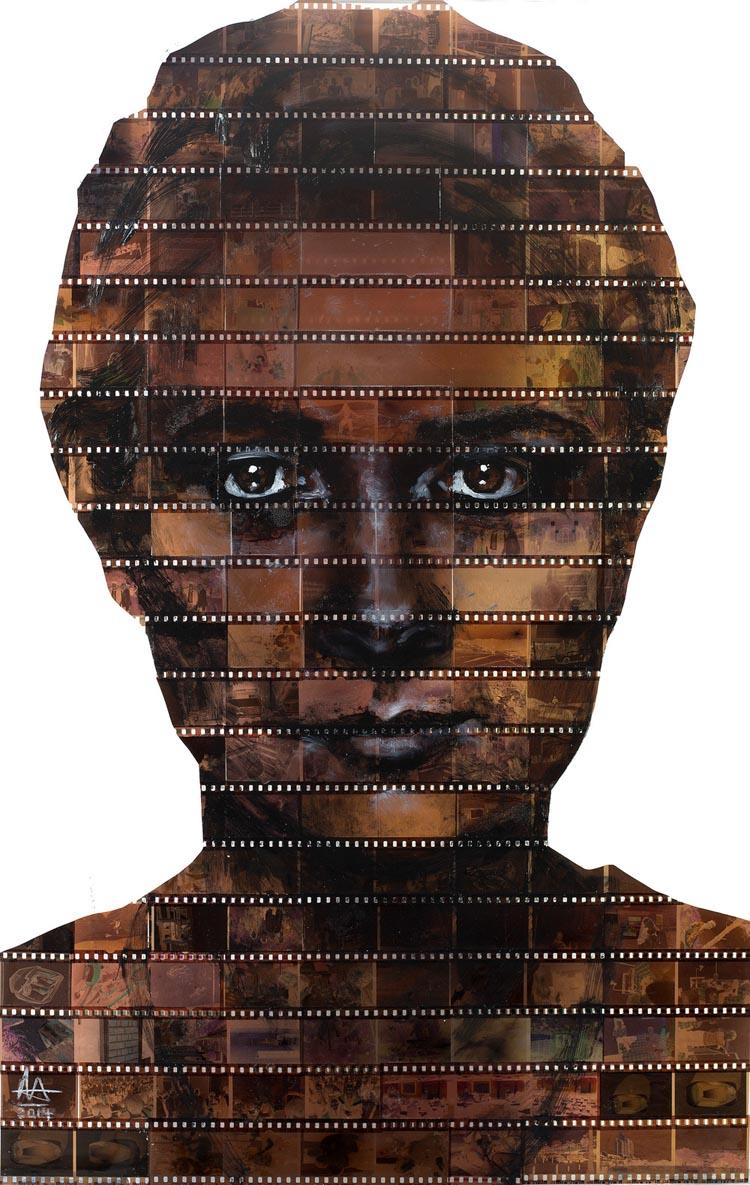 Film Negative Portraits by Nick Gentry