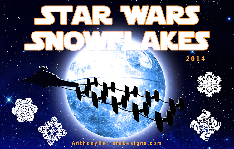 Star Wars Paper Snowflakes 2014