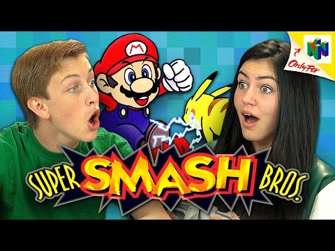 Teens React to 'Super Smash Bros ' on the Nintendo 64 Video Game Console