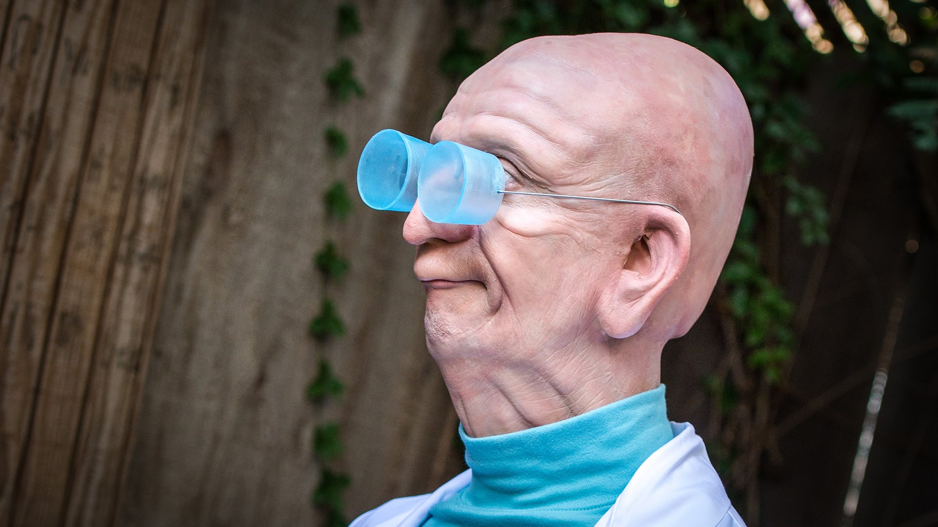 Tested Enlists a Movie Effects Artist to Create a Creepy Real-Life Professor Farnsworth From 'Futurama'