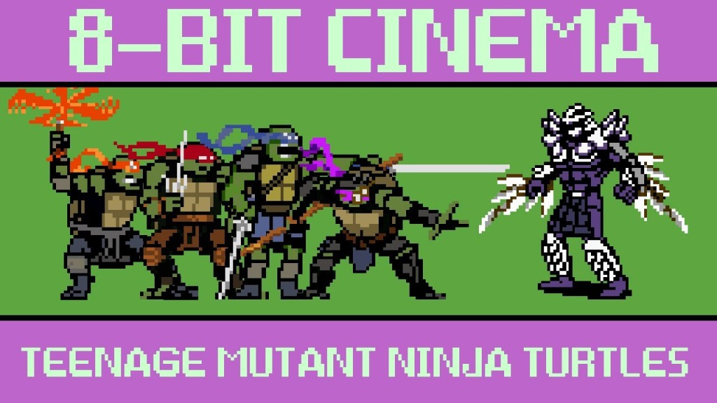 The 2014 'Teenage Mutant Ninja Turtles' Film Retold as an 8-Bit Animated Video Game