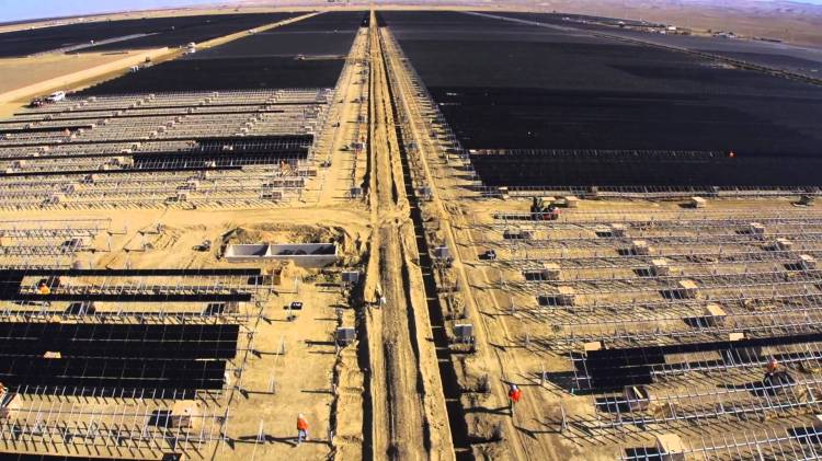 Video Of The Construction Of Topaz Solar Farms In