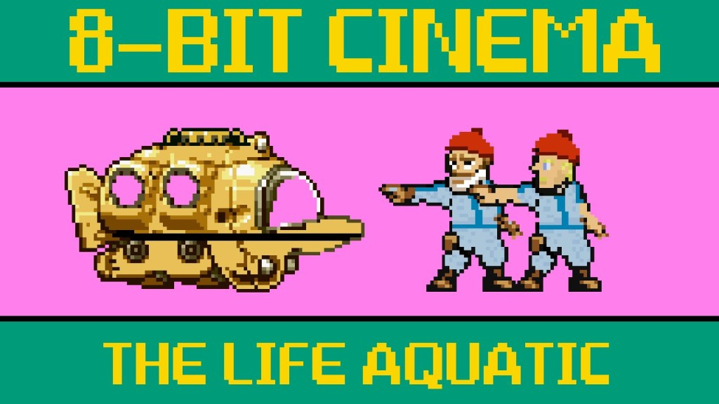 Wes Anderson's Film 'The Life Aquatic with Steve Zissou' Retold as an 8-Bit Animated Video Game