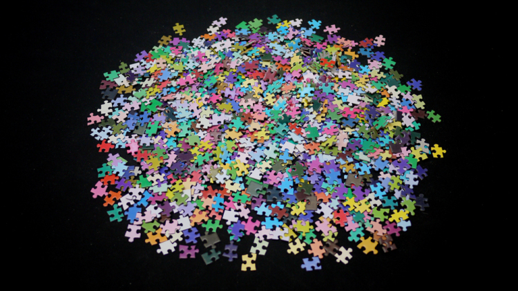 A 1000-Piece Jigsaw Puzzle of the CMYK Color Gamut