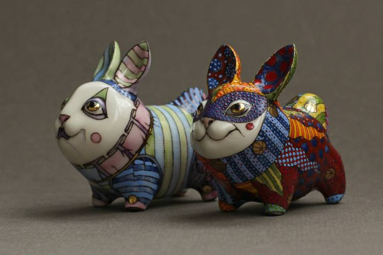 Beautiful Painted Porcelain Animals