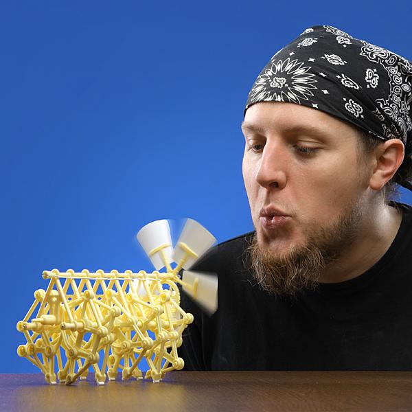 Wind-Powered Strandbeest Kinetic Sculpture Model Kits by ThinkGeek