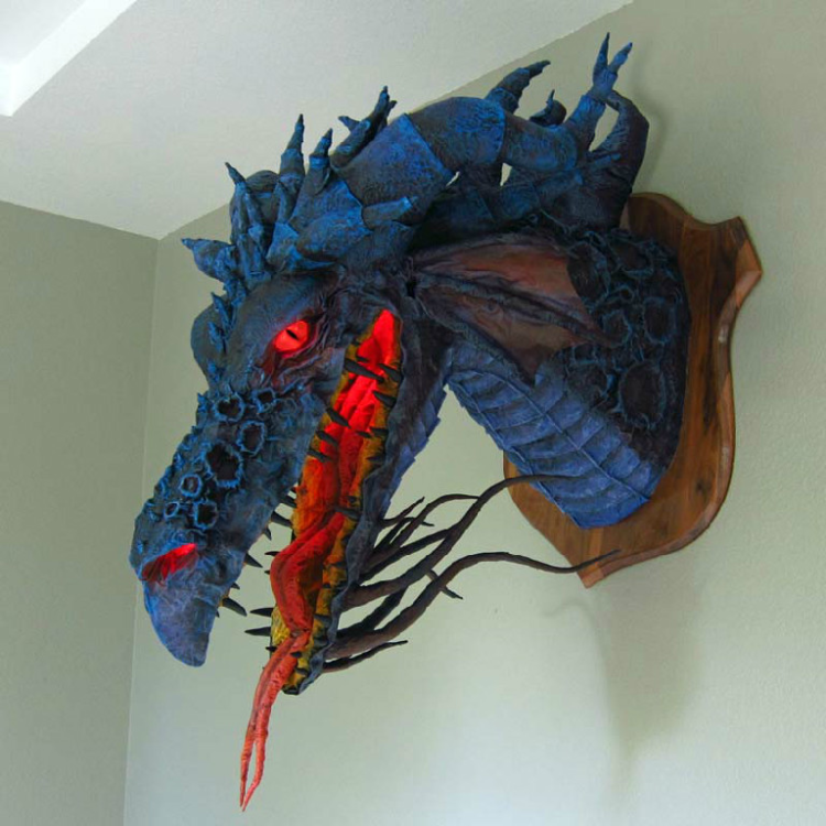 Paper Mache Animal and Mythical Creature Sculptures by Dan Reeder
