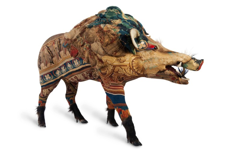 Tapestry Animal Sculptures by Frederique Morrel