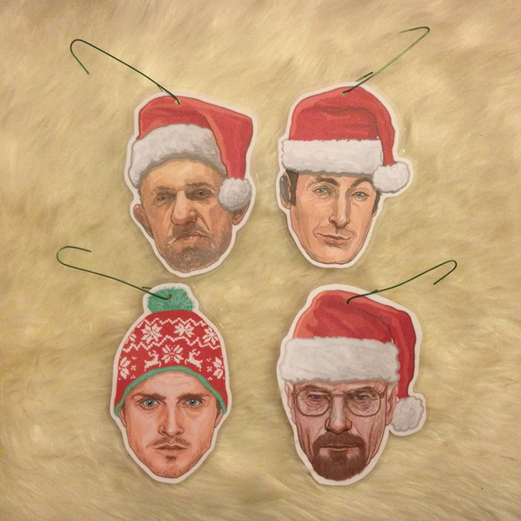 Breaking Bad Christmas Ornaments