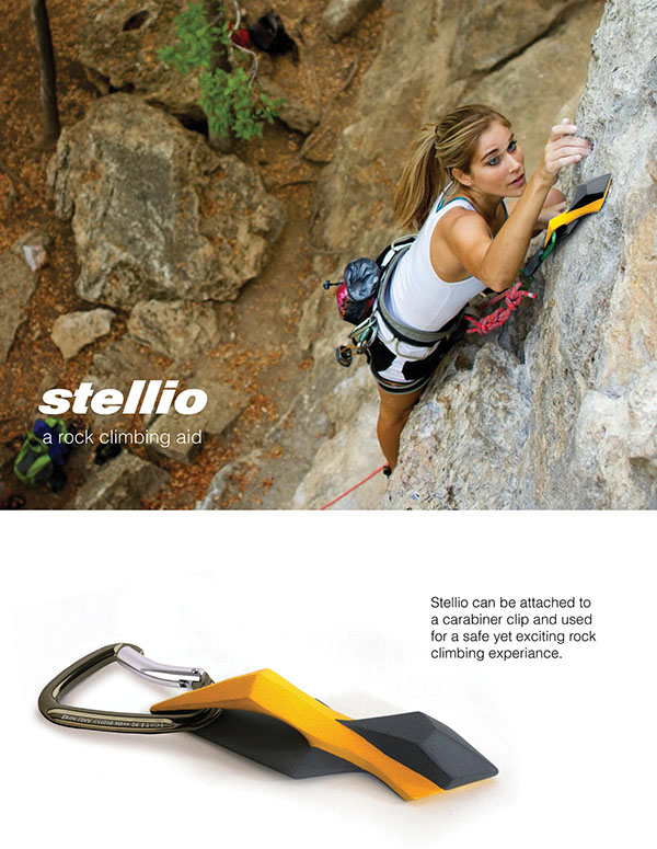 Stellio, An Adhesive Rock-Climbing Aid Concept Inspired by Gecko Feet