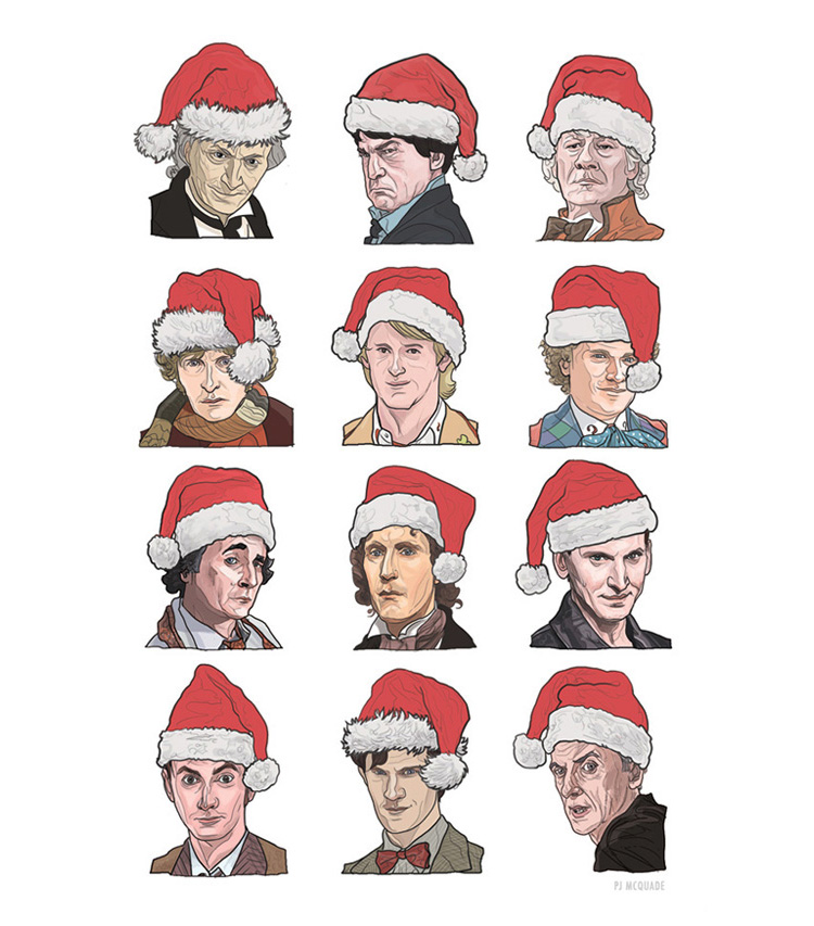Doctor Who Christmas Cards.Festive Christmas Cards And Ornaments Based On Popular Television