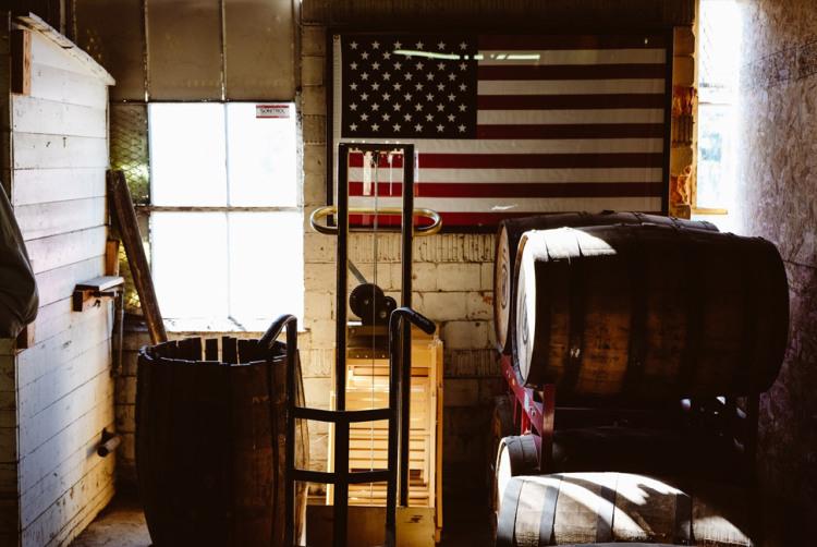 Barrels and Flag
