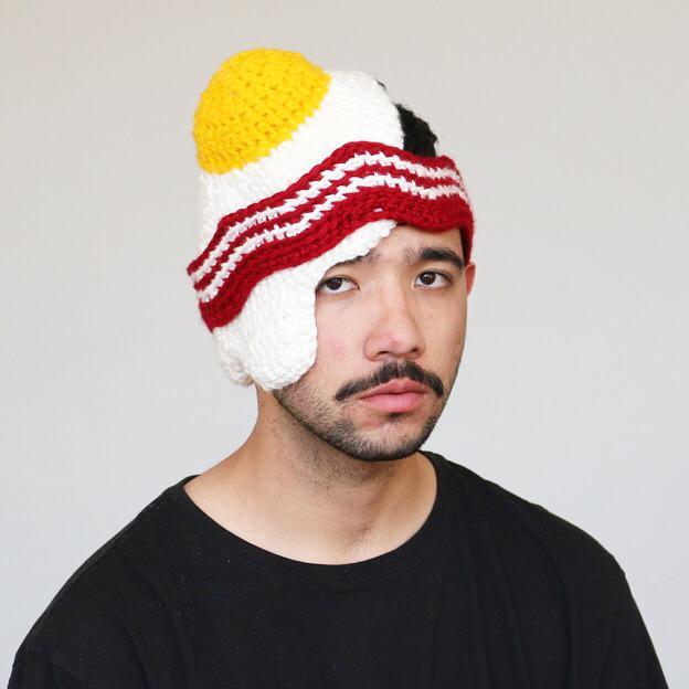 Eggs and Bacon Crocheted Hat