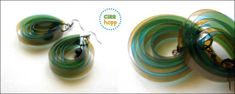 Hungarian artist creates beautiful jewelry from recycled - Plastic bottle jewelry making ...