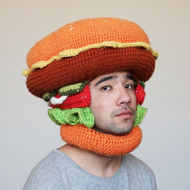 Hamburger Crocheted Hat