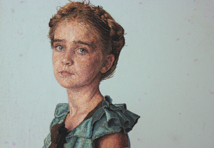 Astonishingly Lifelike Embroidery Portraits by Cayce Zavaglia