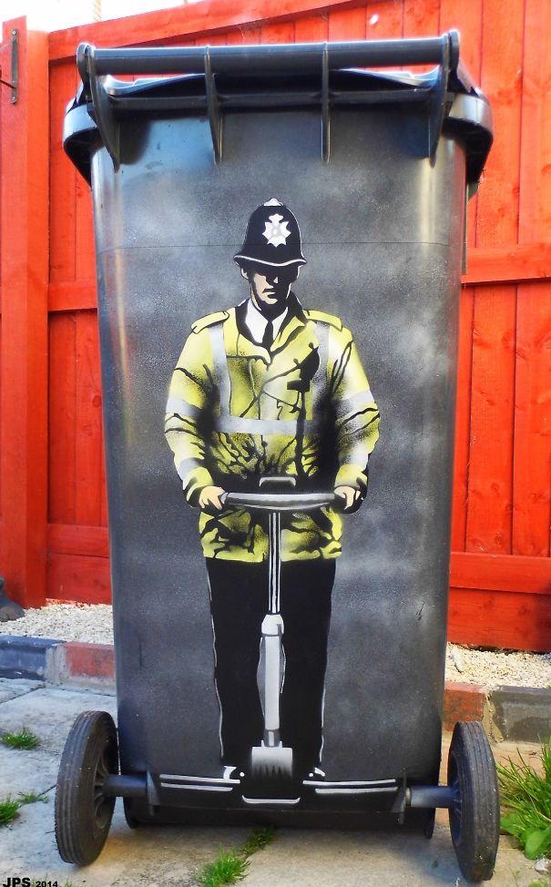 Banksy-Inspired Street Art by Jamie Scanlon aka JPS