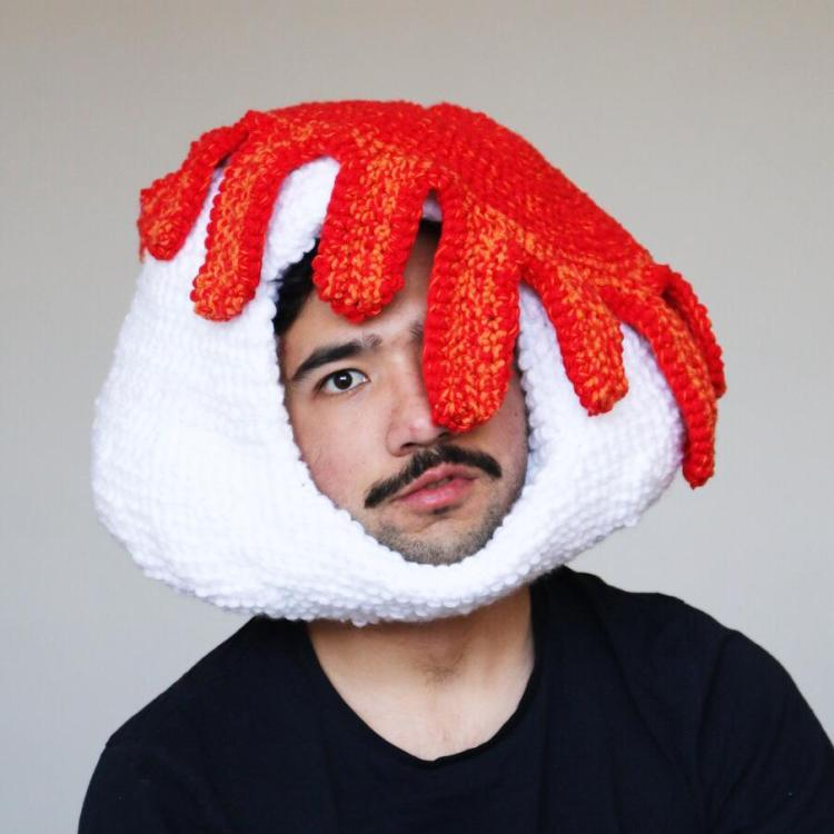 Melting Crocheted Hat