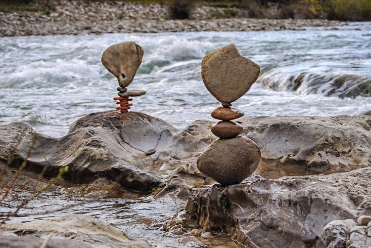 Stacked Stone Sculptures by Miha Brinovec
