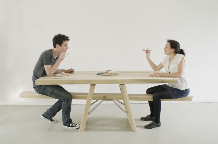 People Eating at SeeSaw Table