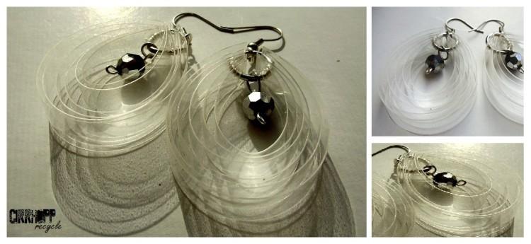 Clear Bottle Earrings