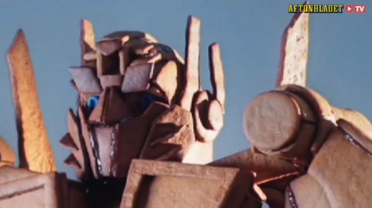 Gingerbread Optimus Prime head