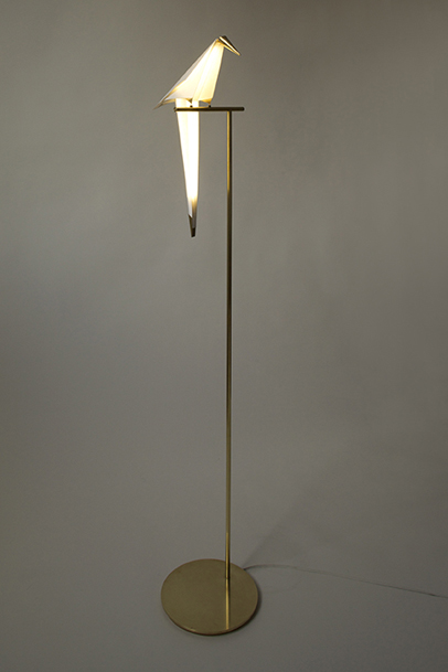 Perch Light, A Beautiful Origami Bird Lamp