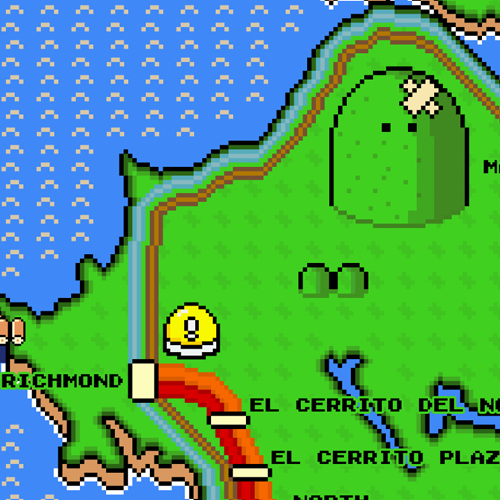 Super Mario World BART Map