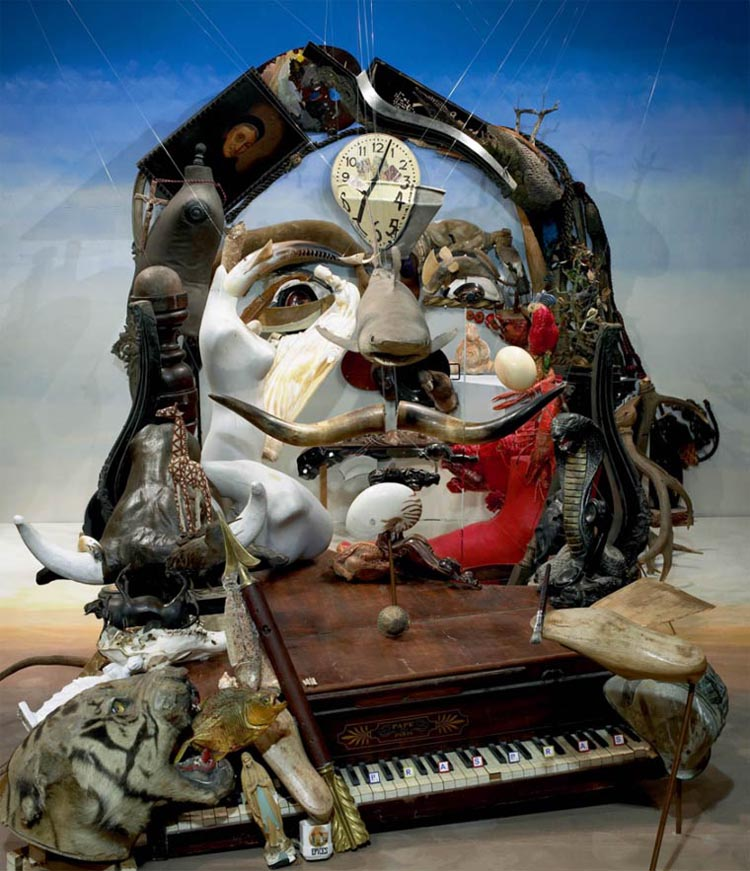 Anamorphic Art Made of Found Objects by Bernard Pras